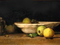 Emil Carlsen White Bowl & Apples, ca.1874