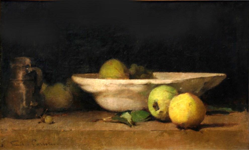 Emil Carlsen White Bowl & Apples, ca.1874