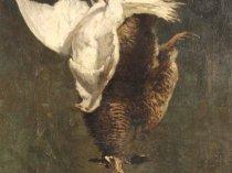 Emil Carlsen : Hanging pheasants, ca.1894.