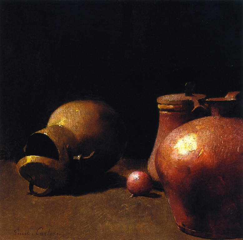 Copper Kettles in Reflected Light (also called pots and copper) 1894