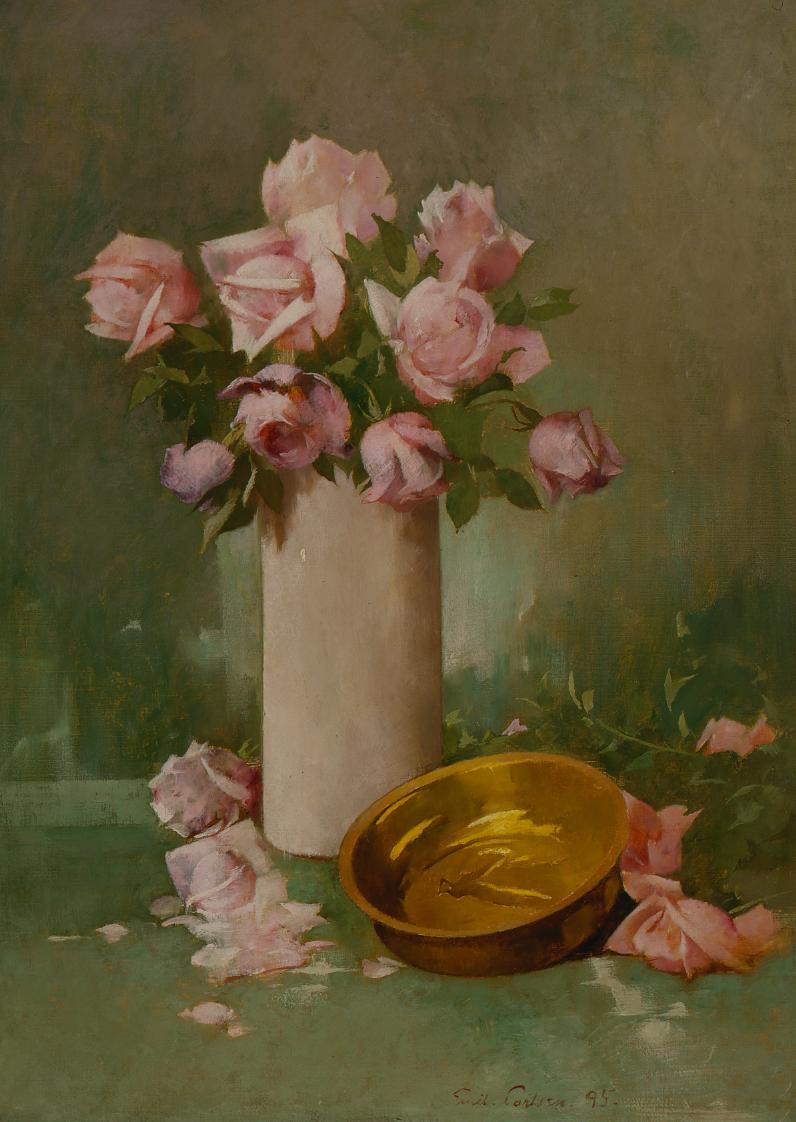 Emil Carlsen : Roses, 1895.