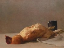 Emil Carlsen : Still life with rooster, 1892.