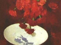 Emil Carlsen : Red carnations, ca.1875.