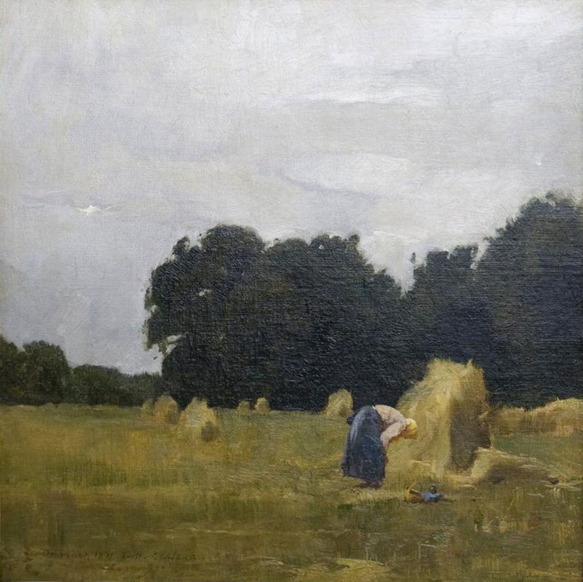 Emil Carlsen : Peasant in the field, 1871.