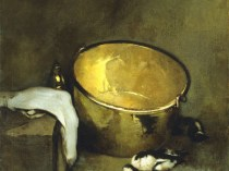Emil Carlsen Still Life With Brass Pot (aka: The Big Black Kettle), 1902