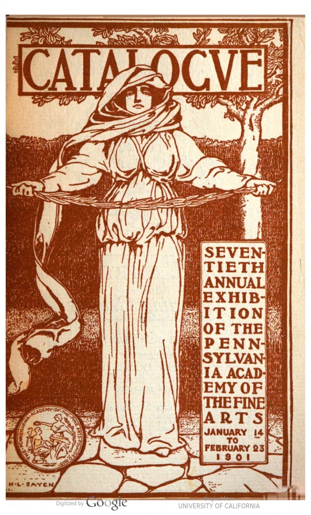 "1901 Pennsylvania Academy of the Fine Arts, Philadelphia, PA, ""Seventieth Annual Exhibition of the Pennsylvania Academy of The Fine Arts"", January 14-February 23"