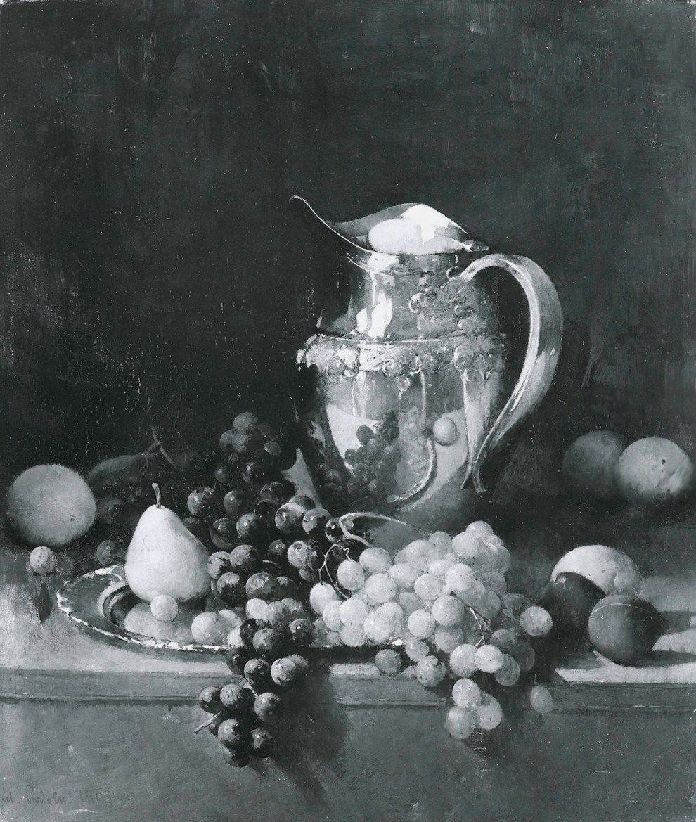 Emil Carlsen Still Life with Fruit and Silver Pitcher, 1903