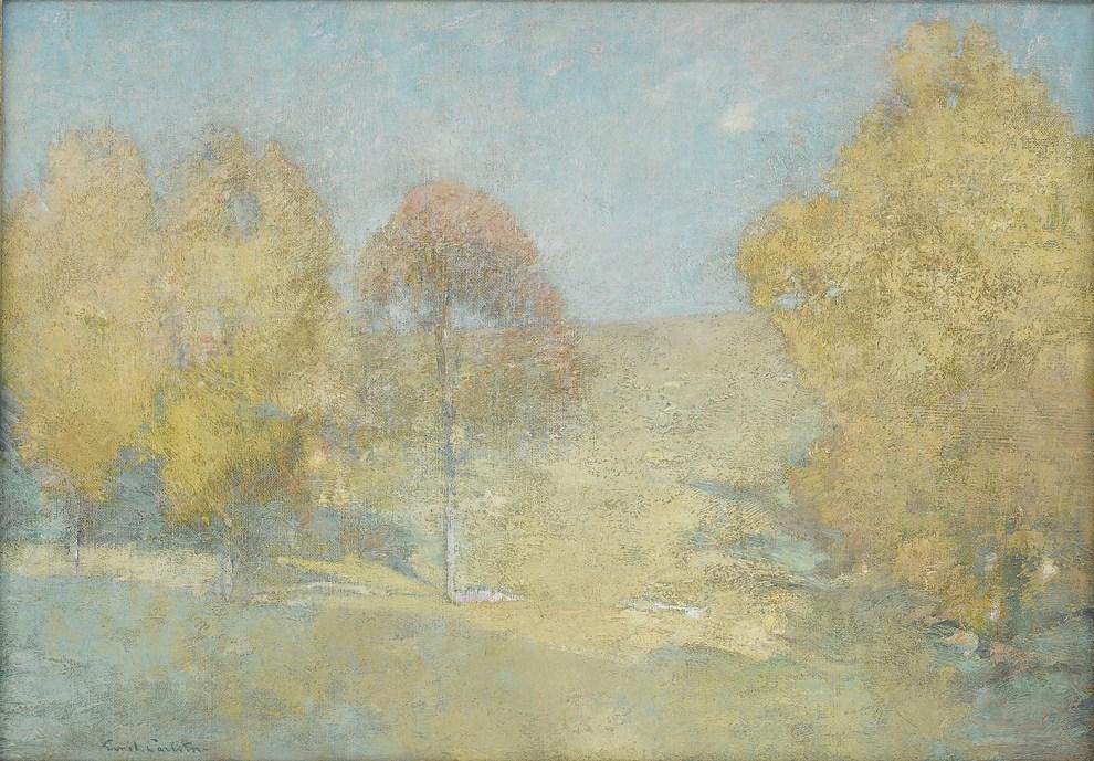 Emil Carlsen : Autumn morning—fading moon, ca.1906.