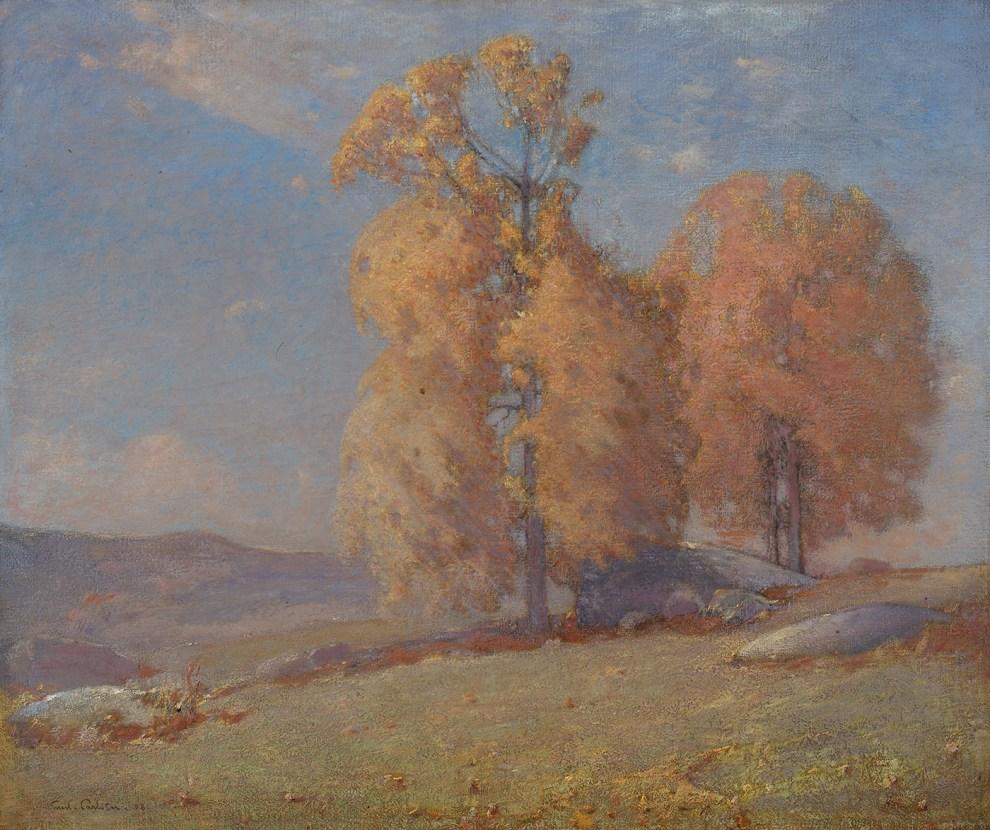 Emil Carlsen Autumn landscape, 1908