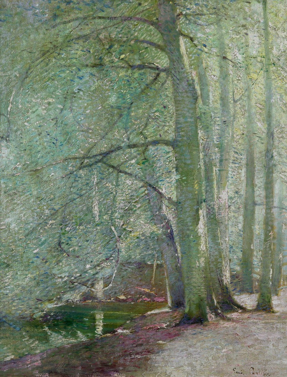 Emil Carlsen : Woodland stream, ca.1912.