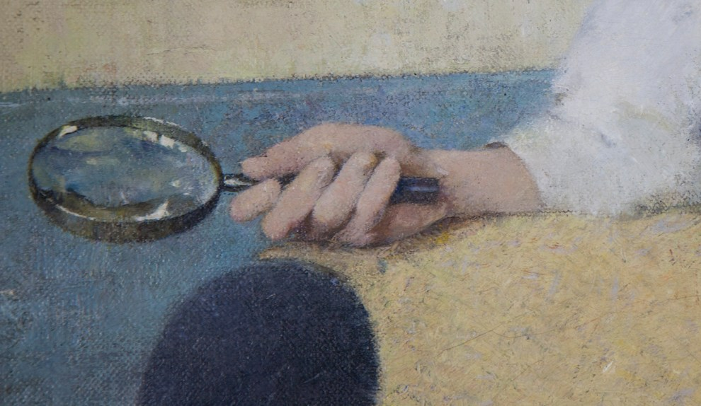 Emil Carlsen Portrait of Dines Carlsen (also called Portrait of Dines No. 3), 1914 - Detail