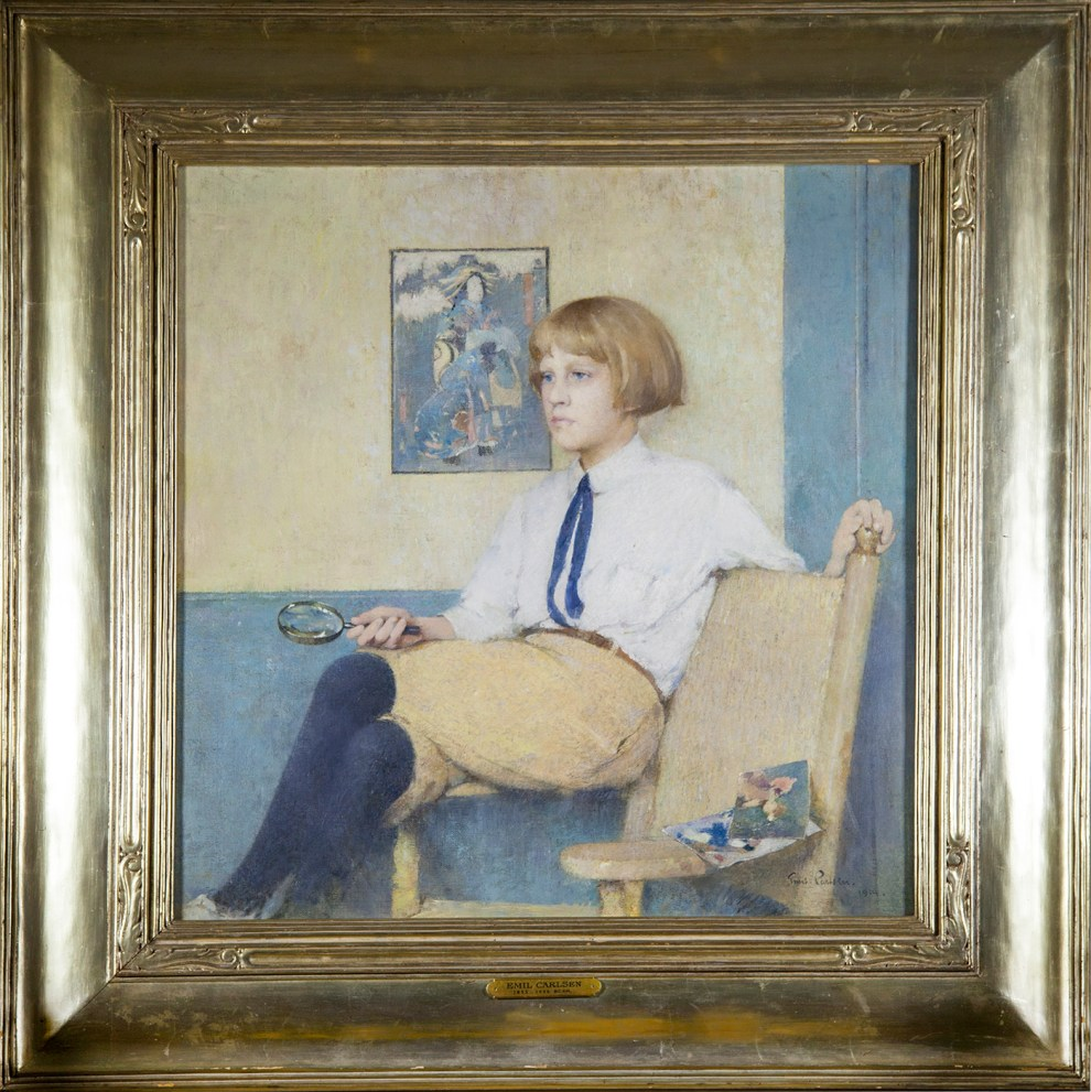 Emil Carlsen Portrait of Dines Carlsen (also called Portrait of Dines No. 3), 1914 - Original Frame