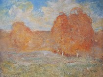 Emil Carlsen : Trees in autumn, ca.1914.