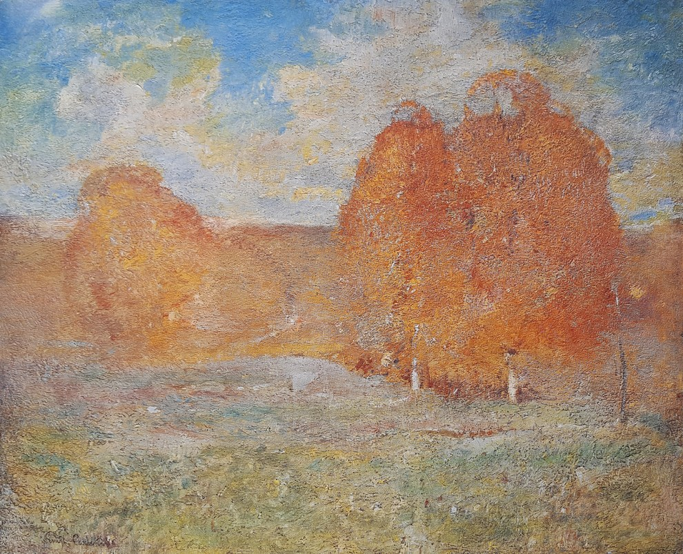 Emil Carlsen : Trees in autumn, ca.1914.