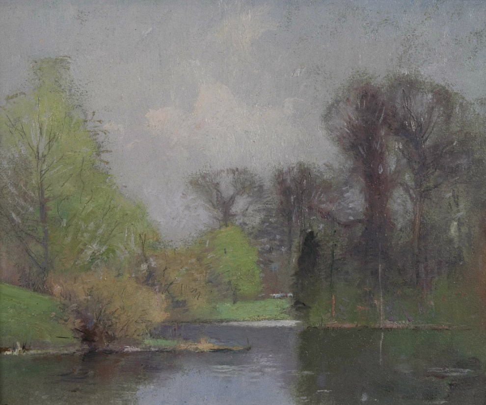Emil Carlsen Lakescene (also called Spring Landscape), ca.1890