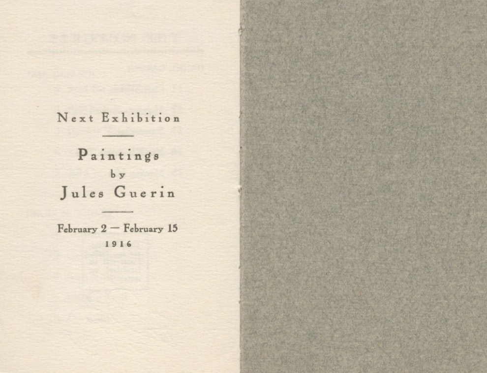 Exhibition of paintings by Emil Carlsen, Helen M. Turner, Daniel