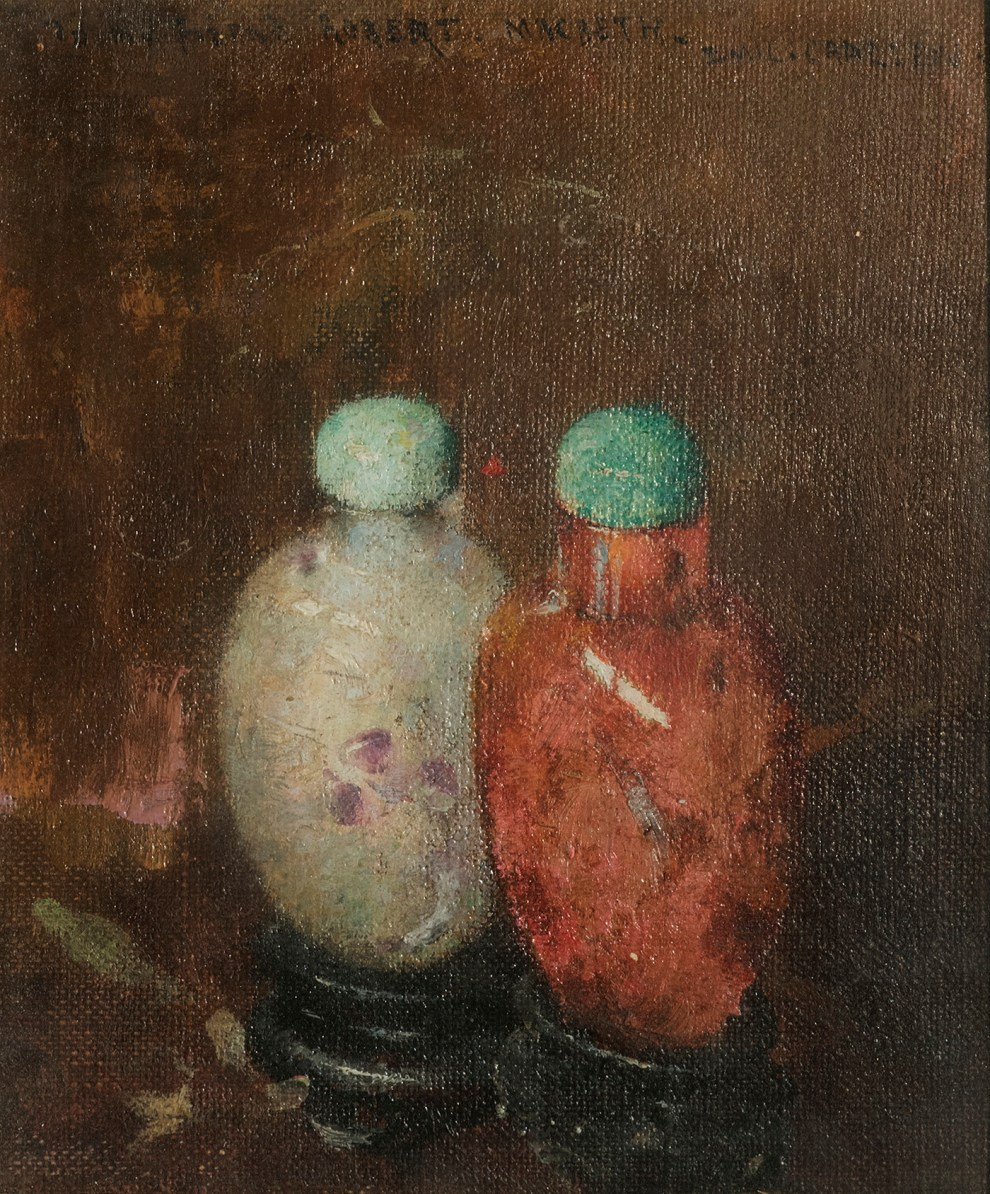 Emil Carlsen : Two chinese snuff bottles, ca.1915.