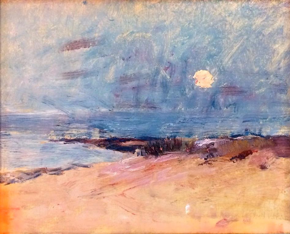 Emil Carlsen : Setting sun, ca.1930.