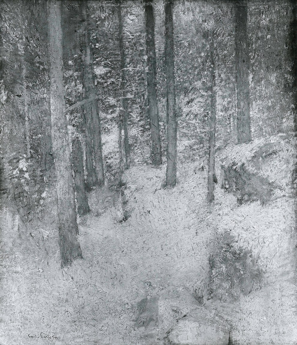Emil Carlsen Wood Interior No. 2 c.1918