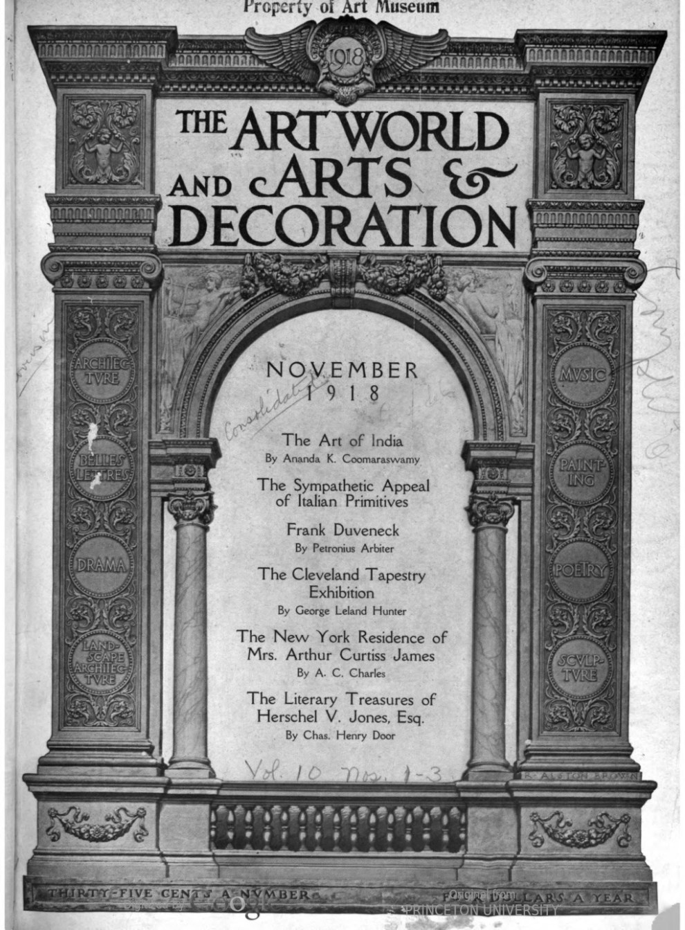 "Arts and Decoration, New York, NY, ""The academy winter exhibition"", November, 1918, Volume 10, Number 1, page 151, not illustrated"