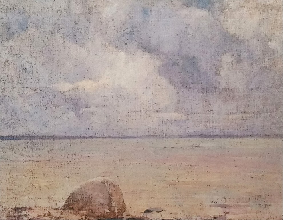 Emil Carlsen A View of the Sound (Long Island) (also called Seascape with Rock), c.1920