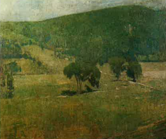 Emil Carlsen : Green landscape, ca.1920.