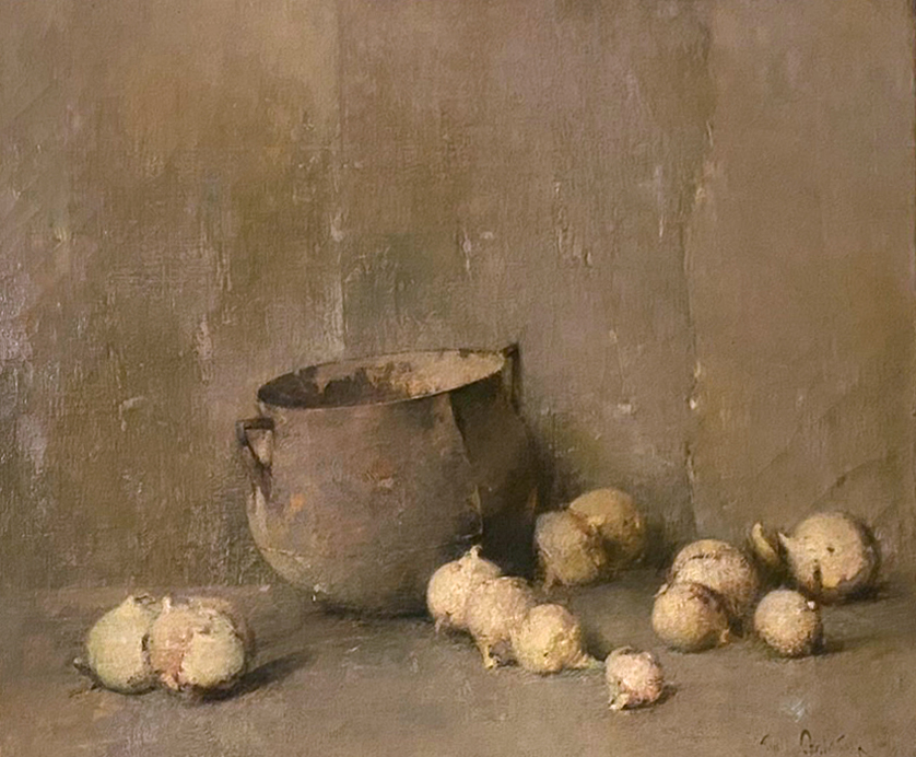 Emil Carlsen : Pot and onions, ca.1920.