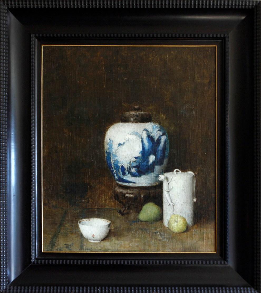 Emil Carlsen : Still life with blue vase, ca.1921.