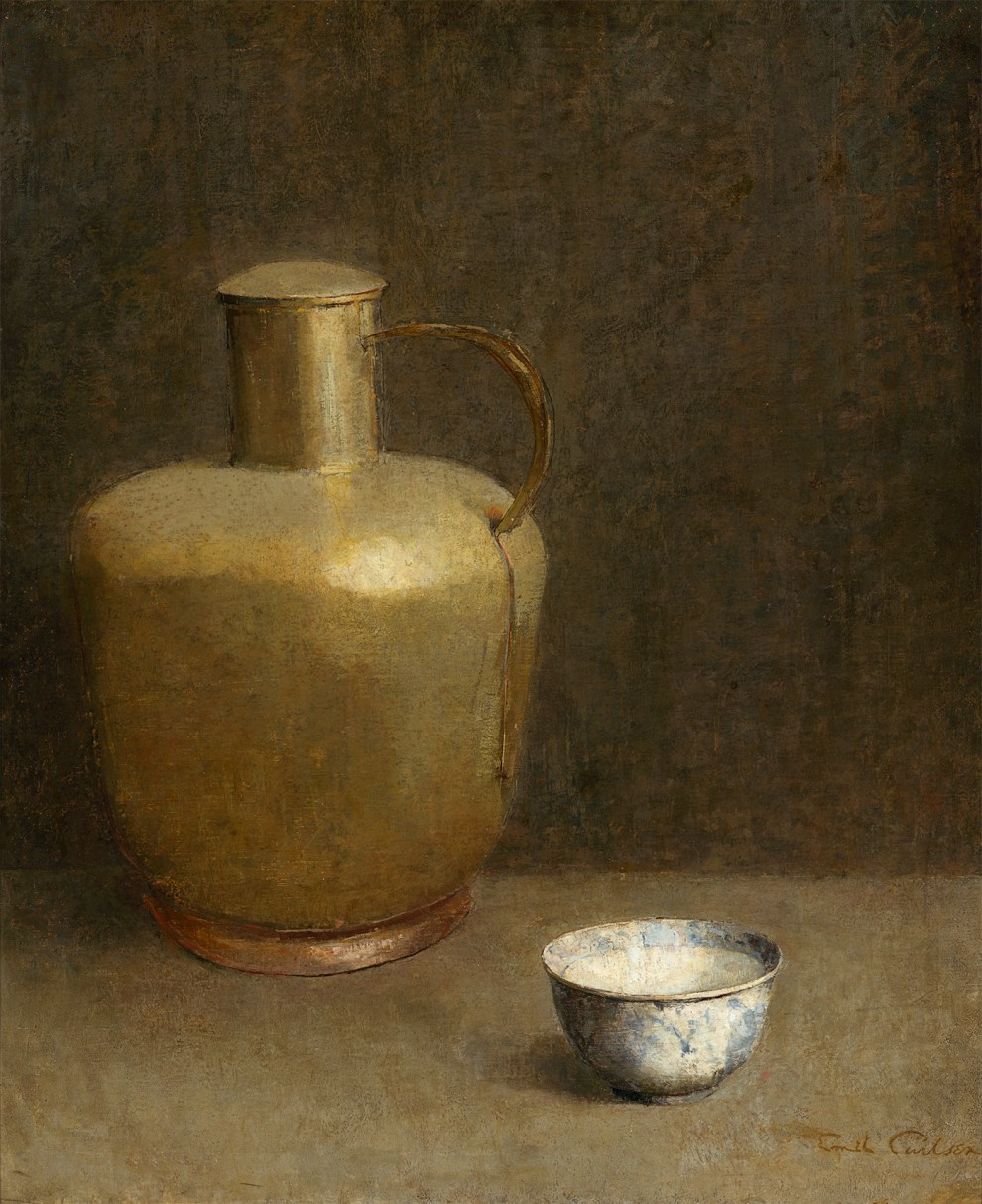Emil Carlsen : Clay vessel and china bowl, ca.1922.