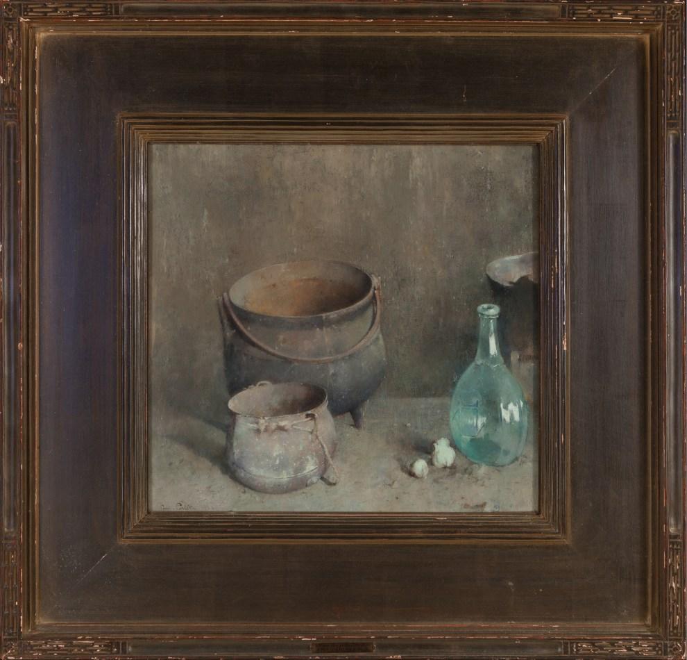Emil Carlsen : The hearthstone, 1922.