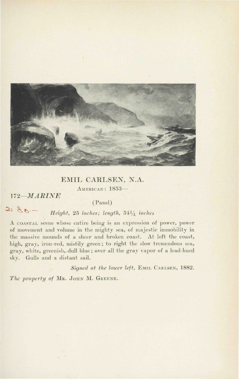 """1923 The American Art Galleries, Madison Square South, New York, NY, """"Foreign and American Oil Paintings Belonging to An Estate and Private Owners"""", November 14-15"""
