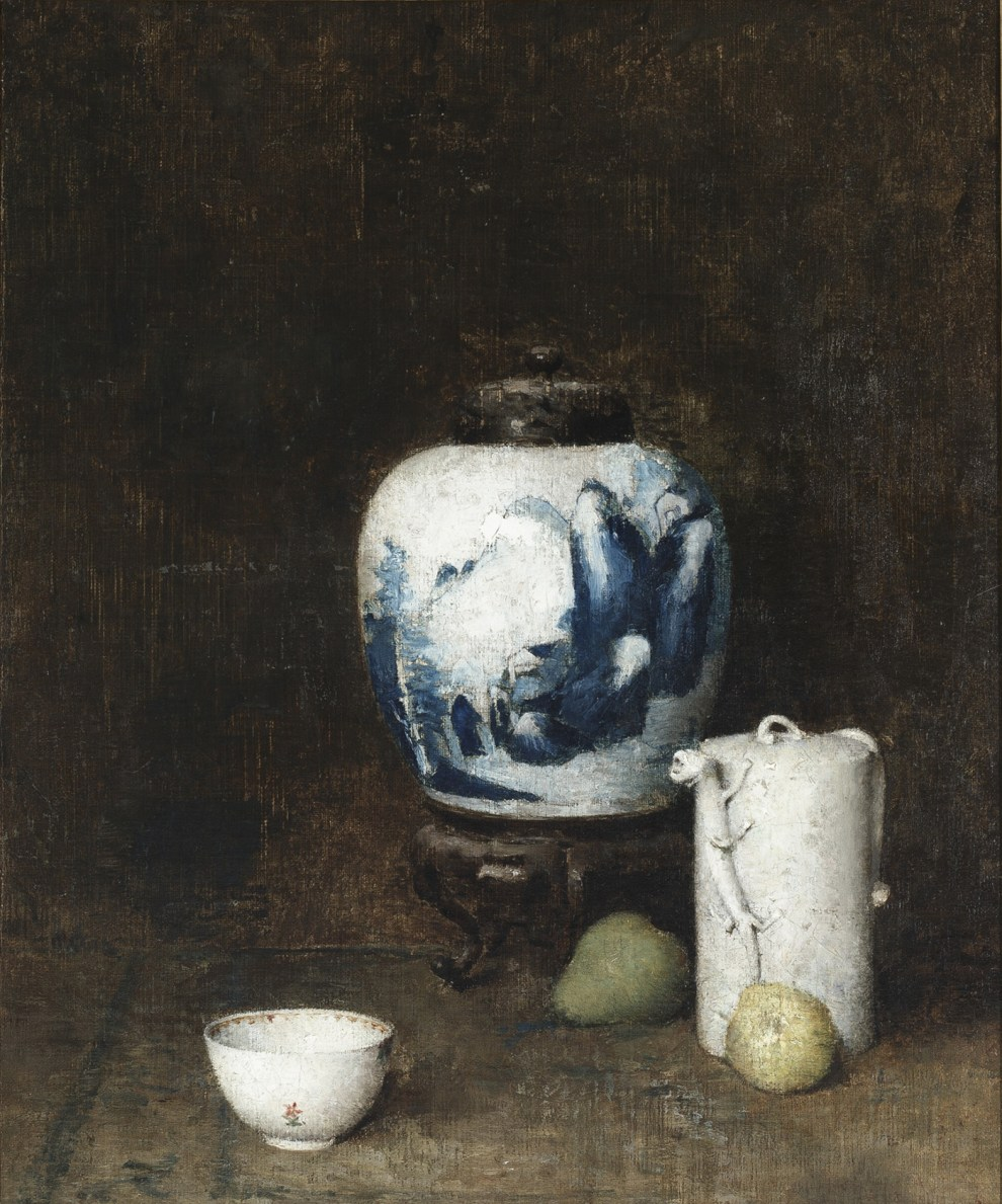 Emil Carlsen : Still life with blue vase, ca.1921.