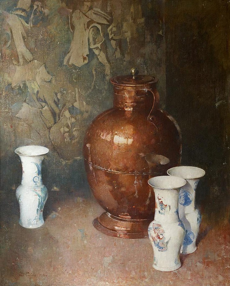 Emil Carlsen : Copper and porcelain, 1928.