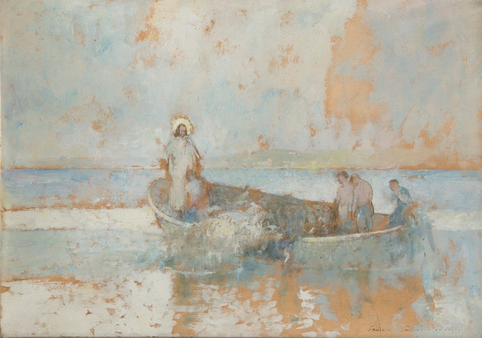 Emil Carlsen Study for The Miraculous Drought, 1928