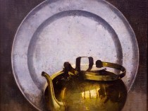 Emil Carlsen : Pewter and brass, 1929.