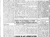 "The Indianapolis Star, Indianapolis, IN, ""In the world of art"" by Lucille E Morehouse, Sunday, October 12, 1930, page 56, not illustrated."