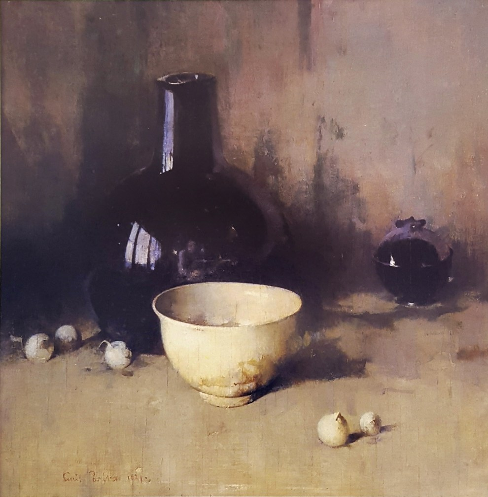 Emil Carlsen Still Life With Self-Portrait, 1931