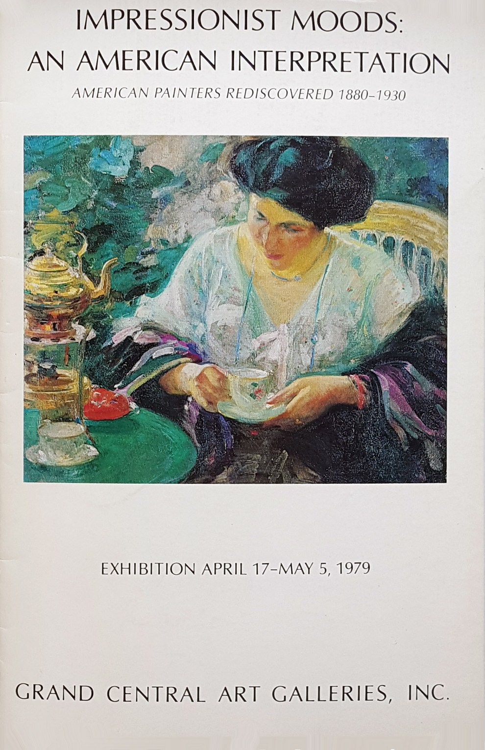 "1979 Grand Central Art Galleries, New York, NY, ""Impressionist moods : an American interpretation"", April 17 – May 5."