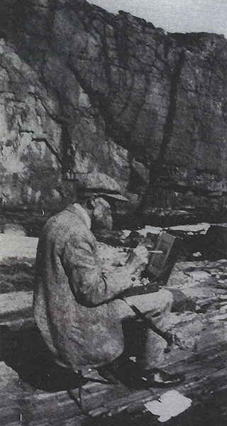 Fig. 30 The artist sketching outdoors, probably Ogunquit, Maine