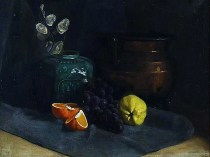 Emil Carlsen Still Life with Fruit and Jars
