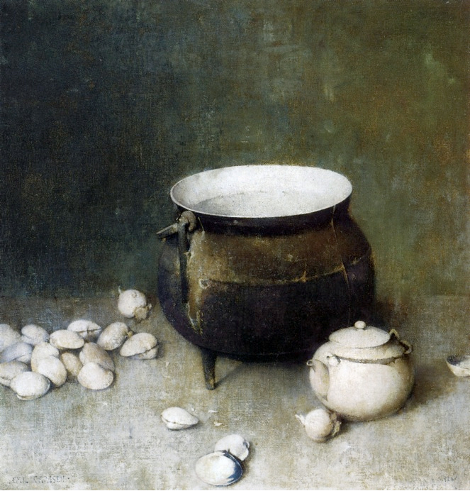 Emil Carlsen Iron Kettle with Clams (also called The Iron Kettle), 1926