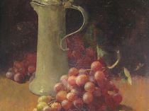 Emil Carlsen Still Life with Grapes and Pewter Flagon 1890