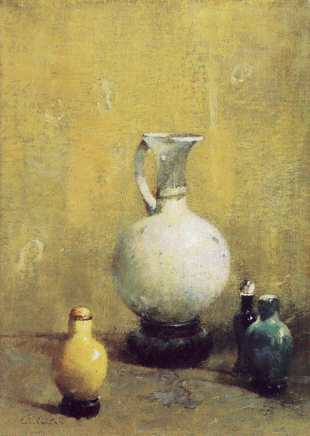 Emil Carlsen : Still life with ceramic vase, ca.1923.