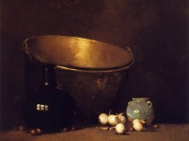 Emil Carlsen Still Life (large copper candy pot) 1904