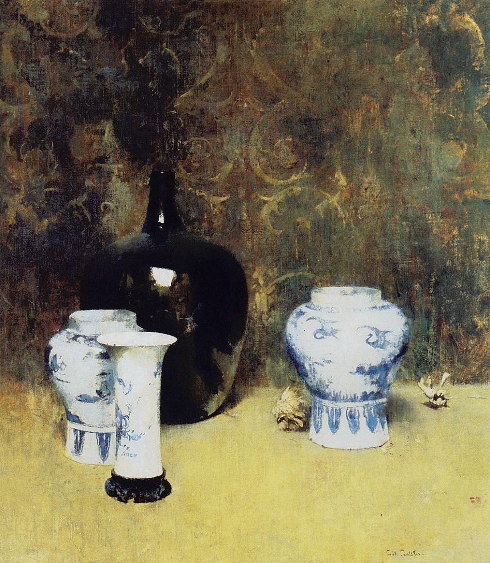 Emil Carlsen : Oriental jars, 1914.