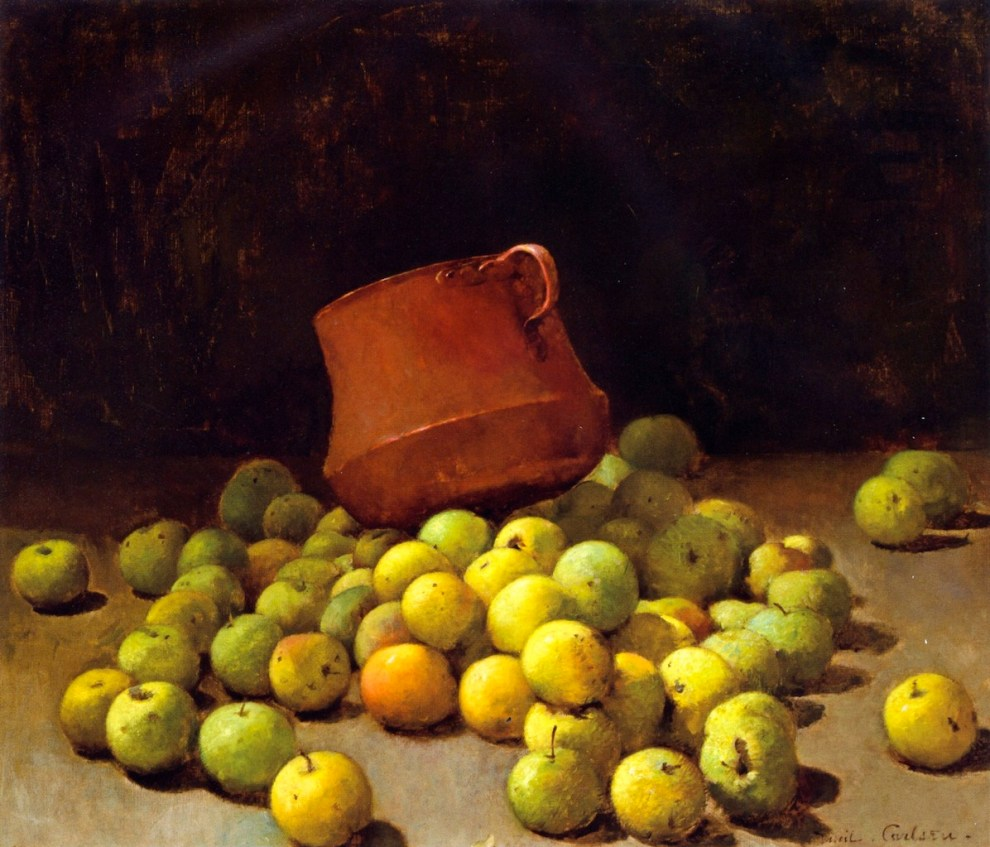 Emil Carlsen : Still life with apples, ca.1908.