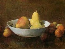Emil Carlsen Pears In A Bowl With Plums 1894
