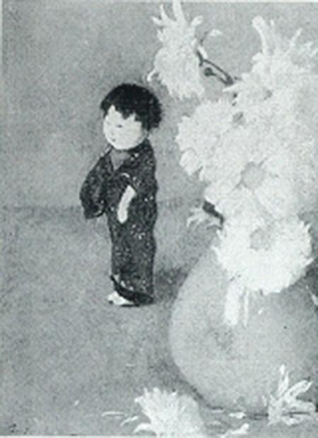 Emil Carlsen : Still life with oriental doll, ca.1889.