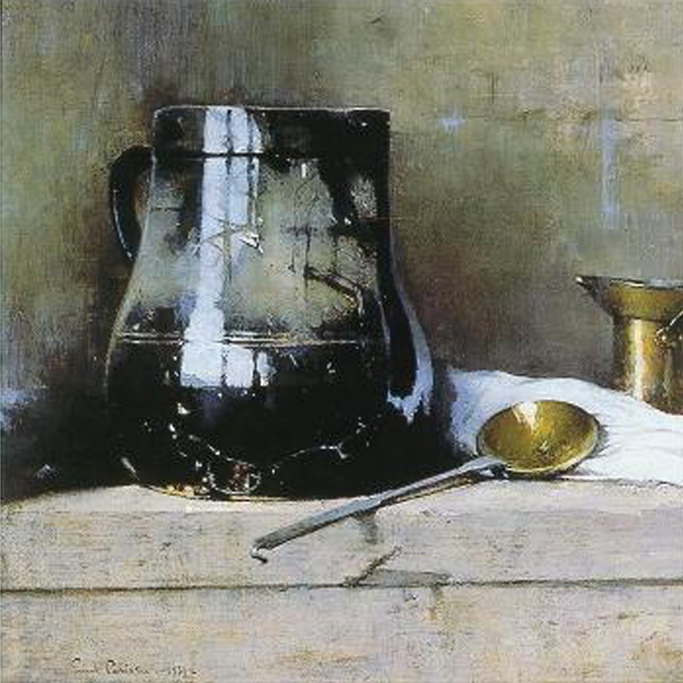 Emil Carlsen : Still life with black jug, 1931.