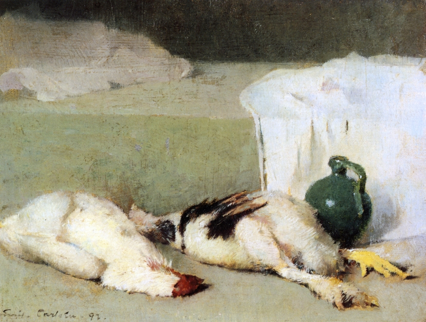 Emil Carlsen Still Life with Game and ceramic pot (also called Still Life), 1892
